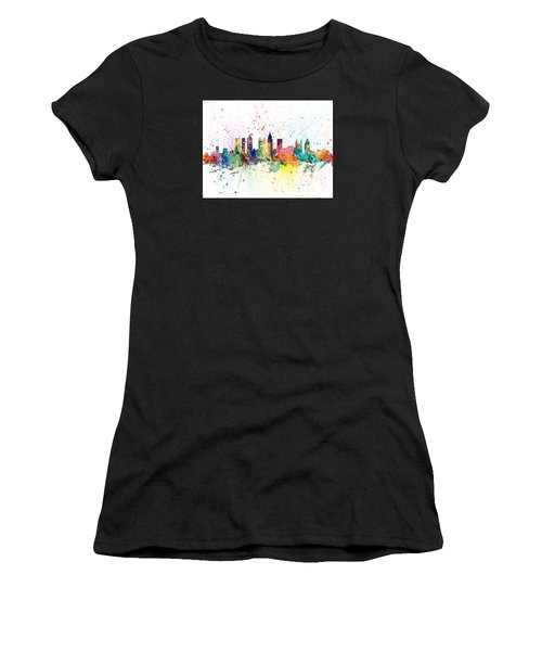 Atlanta Georgia Skyline Women's T-Shirt (Athletic Fit)