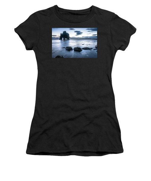 Dinosaur Rock Beach In Iceland Women's T-Shirt (Athletic Fit)