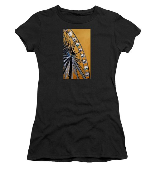 Women's T-Shirt (Junior Cut) featuring the photograph Ferris Wheel Impressions by Werner Lehmann