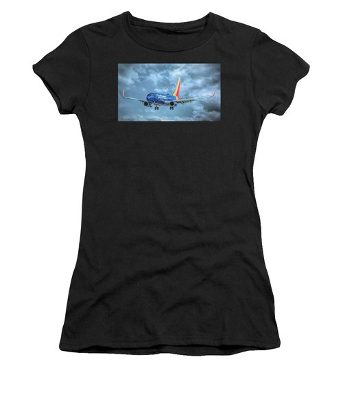 Women's T-Shirt (Athletic Fit) featuring the photograph 737 by Guy Whiteley
