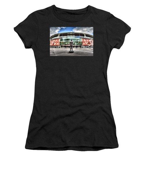 Arsenal Fc Emirates Stadium London Women's T-Shirt (Athletic Fit)