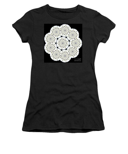 9-pointed Orchid Star Women's T-Shirt (Athletic Fit)