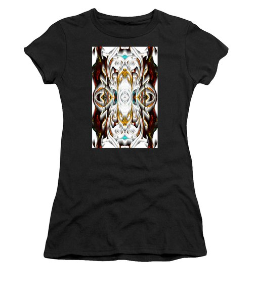Women's T-Shirt (Athletic Fit) featuring the digital art 992.042212mirror2ornateredagold-1a-1 by Kris Haas