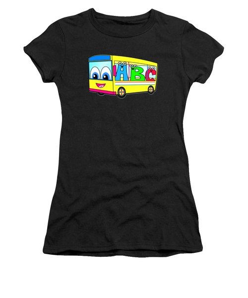A B C Bus T-shirt Women's T-Shirt (Athletic Fit)