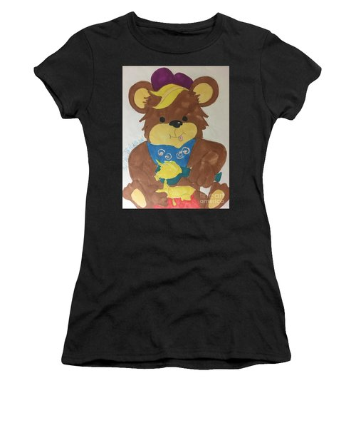 A Bear Loves Honey Women's T-Shirt (Athletic Fit)
