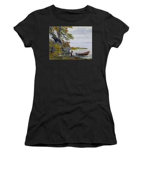A Boat Waiting Women's T-Shirt (Athletic Fit)