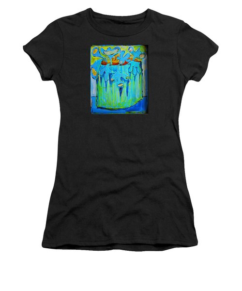 A Bucket Of Flowers Women's T-Shirt (Athletic Fit)