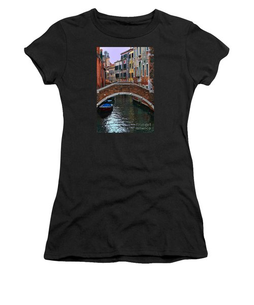 A Canal In Venice Women's T-Shirt (Athletic Fit)