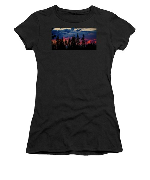 Women's T-Shirt (Junior Cut) featuring the photograph A Chance Of Thundershowers by Albert Seger