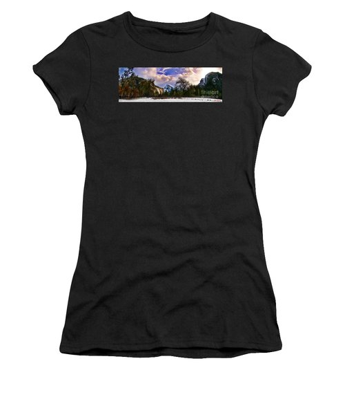 A Cold Yosemite Half Dome Morning Women's T-Shirt