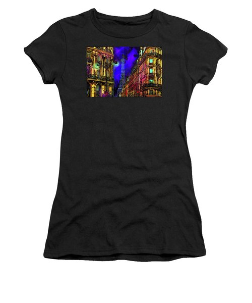 A Corner In Paris Women's T-Shirt (Athletic Fit)