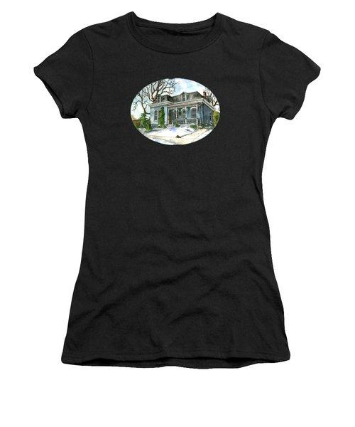 A Cozy Winter Cottage Women's T-Shirt