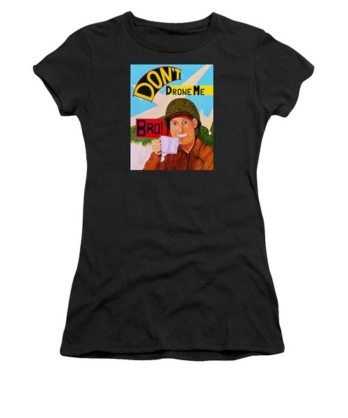 Women's T-Shirt (Junior Cut) featuring the painting A Cup Of Joe by Rand Swift