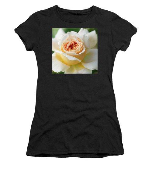 A Delicate Rose In Peach Women's T-Shirt