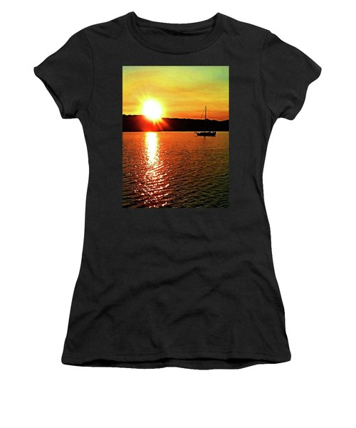 A Early Springtime Visit To Mystic Village In M Women's T-Shirt