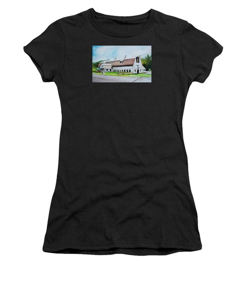 A Farmstand  In The Berkshires Women's T-Shirt (Athletic Fit)