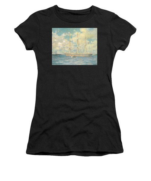 A French Barque In Falmouth Bay Women's T-Shirt