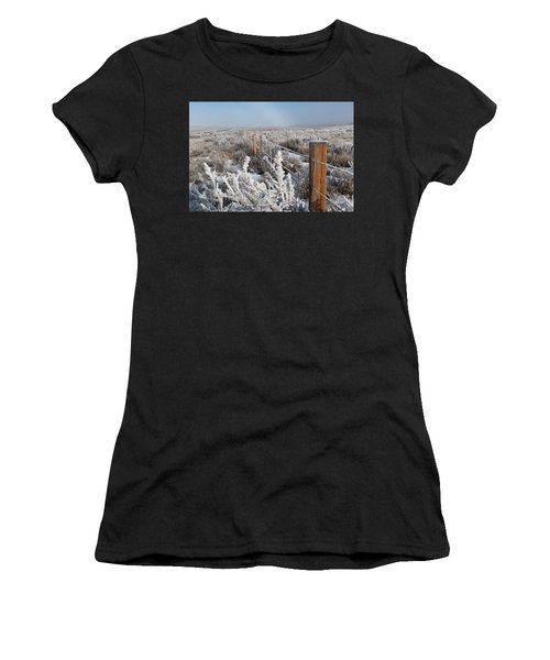 A Frosty And Foggy Morning On The Way To Steamboat Springs Women's T-Shirt