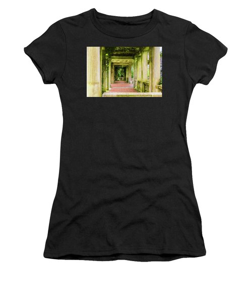 A Garden House Entryway. Women's T-Shirt (Athletic Fit)