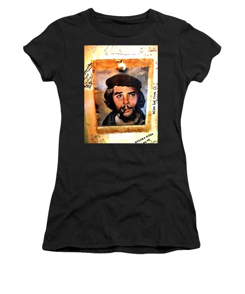 A Garlicky Che Guevara In Havana  Women's T-Shirt (Athletic Fit)