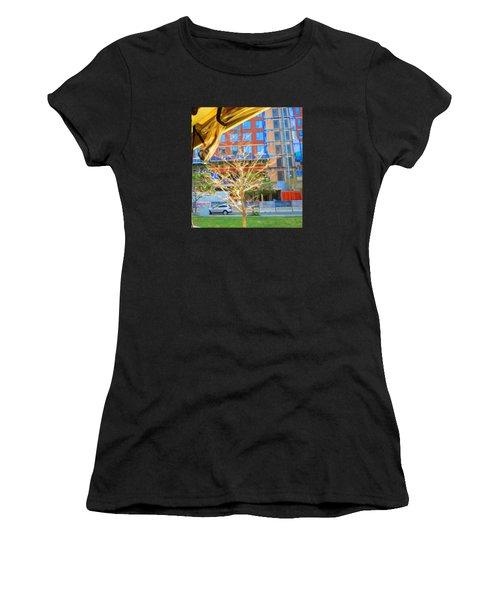 A Golden Tree View From Duck Tour Bus Window Women's T-Shirt