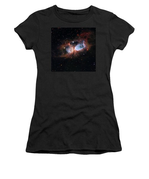Women's T-Shirt (Junior Cut) featuring the photograph A Composite Image Of The Swan by Nasa