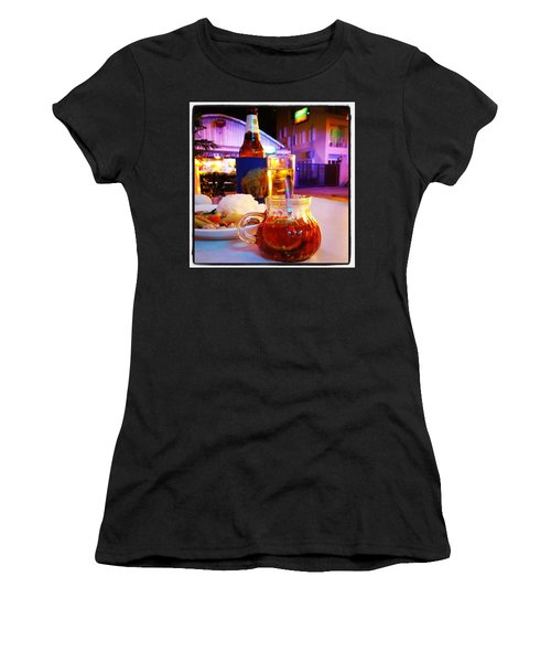 Women's T-Shirt featuring the photograph A Little Dab Will Do Yah. It's Sliced by Mr Photojimsf