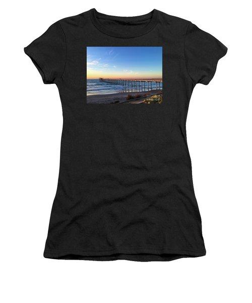 A Long Look At Scripps Pier At Sunset Women's T-Shirt