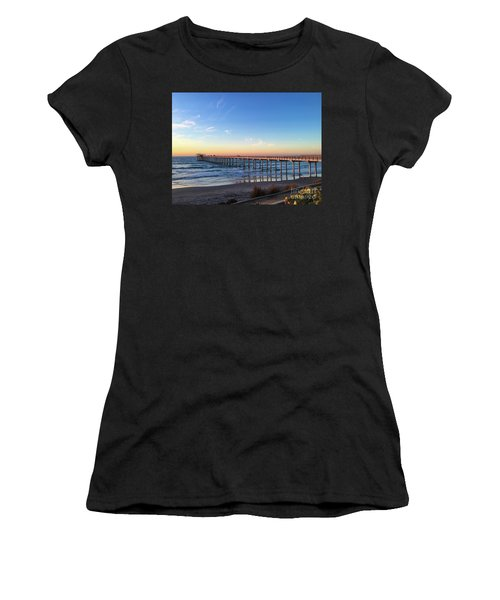 A Long Look At Scripps Pier At Sunset Women's T-Shirt