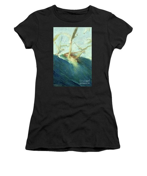 A Mermaid Being Mobbed By Seagulls Women's T-Shirt