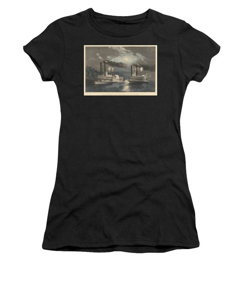 A Midnight Race On The Mississippi Women's T-Shirt