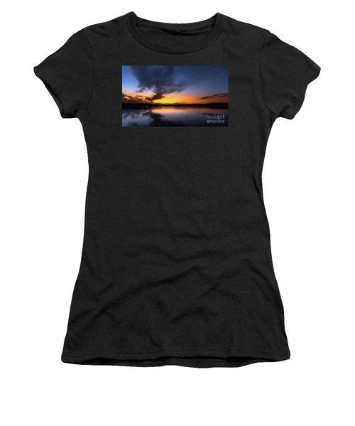A Misty Sunset On Lake Lanier Women's T-Shirt
