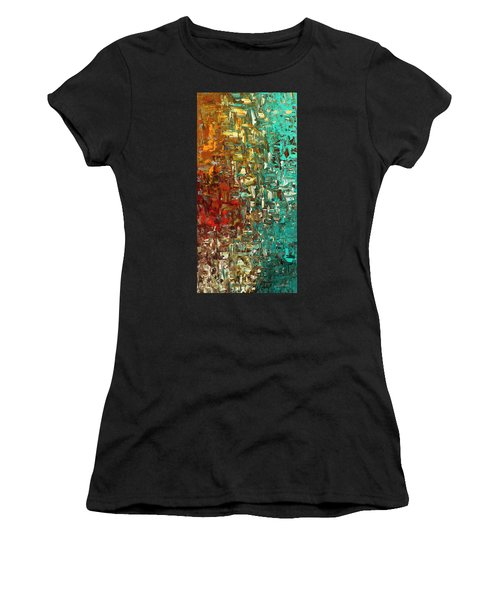 A Moment In Time - Abstract Art Women's T-Shirt (Athletic Fit)