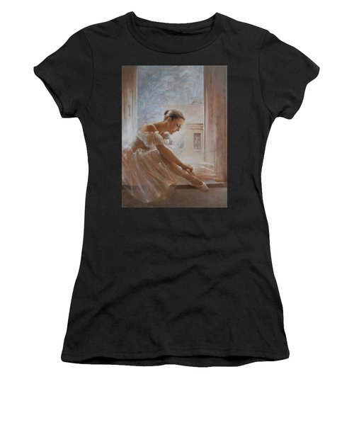 A New Day Ballerina Dance Women's T-Shirt (Athletic Fit)