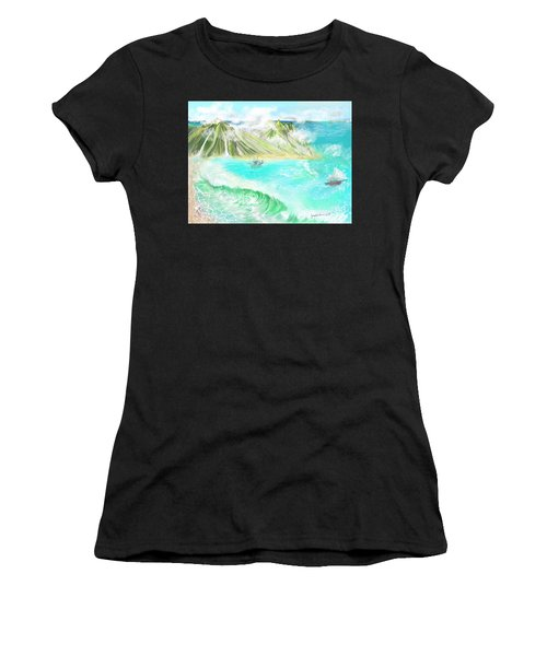 A Ocean Some Where Women's T-Shirt (Athletic Fit)