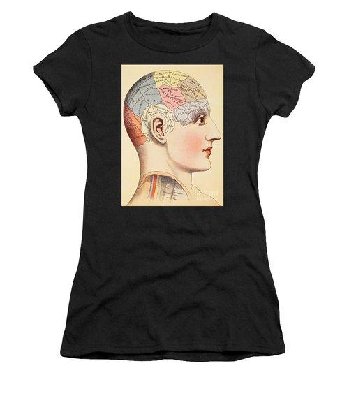 A Phrenological Map Of The Human Brain Women's T-Shirt