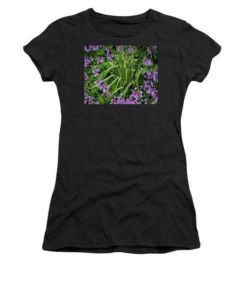 A Ring Of Purple Flowers Women's T-Shirt