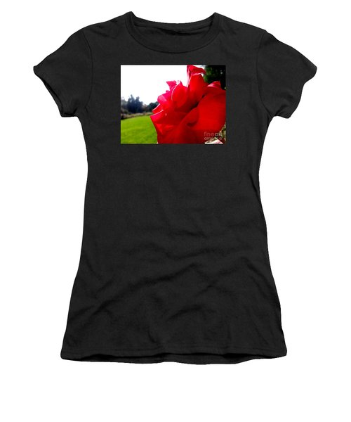 Women's T-Shirt featuring the photograph A Rose In The Sun by Robert Knight