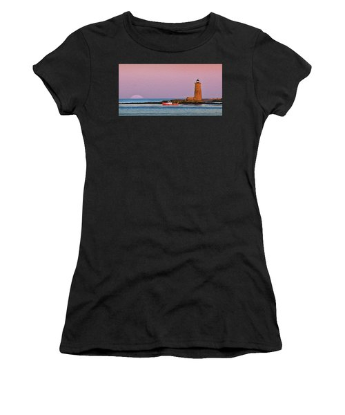 A Ship Passes The Super Moon And Whaleback Women's T-Shirt