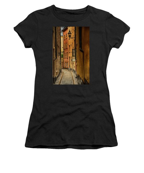 A Side Street In Stockholm Women's T-Shirt