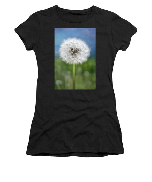 A Single Dandelion Seed Pod Women's T-Shirt