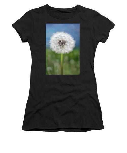 A Single Dandelion Seed Pod Women's T-Shirt