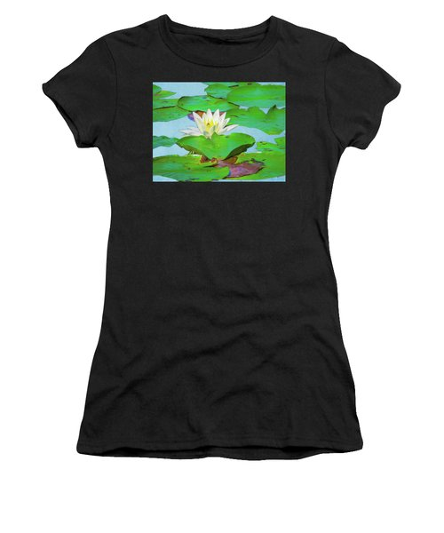 A Single Water Lily Blossom Women's T-Shirt