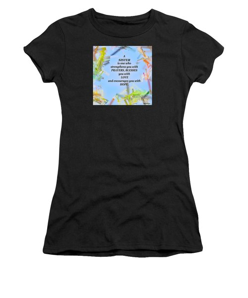 A Sister - Signed Digital Art Women's T-Shirt (Athletic Fit)