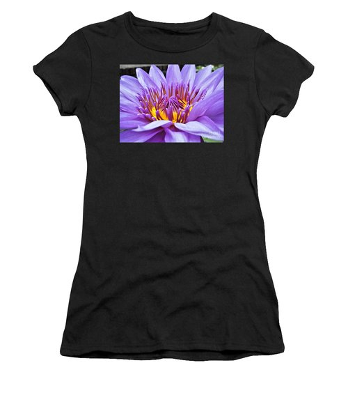 A Sliken Purple Water Lily Women's T-Shirt (Athletic Fit)