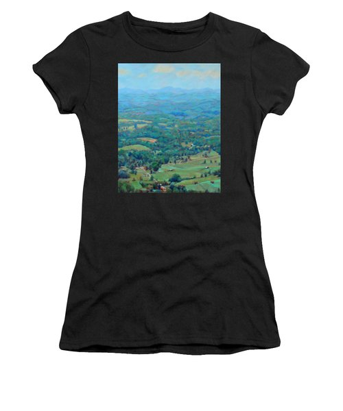 A Slow Summer's Day- View From Roanoke Mountain Women's T-Shirt (Athletic Fit)