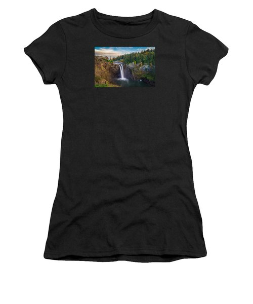 A Snoqualmie Falls  Autumn Women's T-Shirt (Athletic Fit)