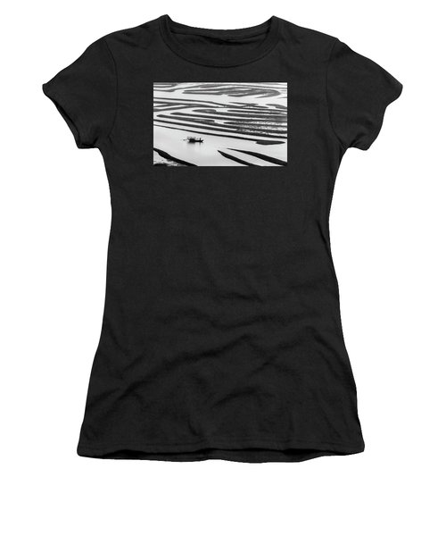 A Solitary Boatman. Women's T-Shirt