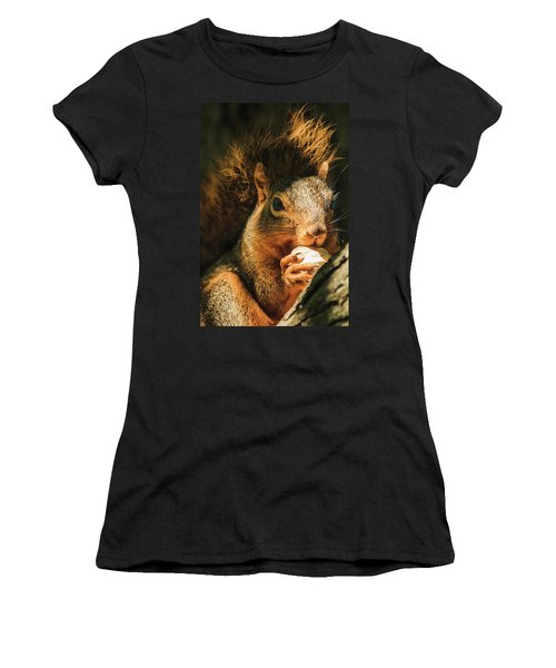 A Squirrel And His Nut Women's T-Shirt (Athletic Fit)