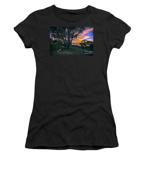A Swinging Sunset From The Secret Swings Of La Jolla Women's T-Shirt
